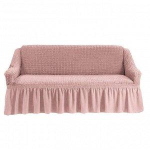 Чехол на 3-х местный диван пыльно-розовый