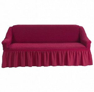 Чехол на 3-х местный диван малиновый