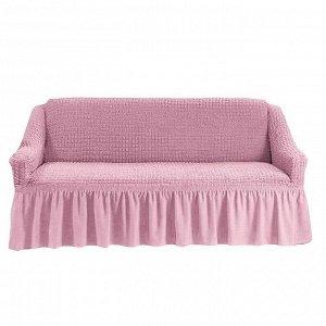 Чехол на 3-х местный диван розовый