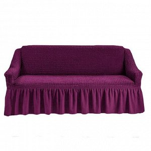 Чехол на 3-х местный диван фиолетовый