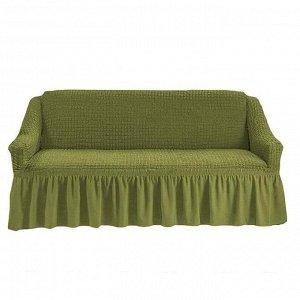 Чехол на 3-х местный диван фисташковый