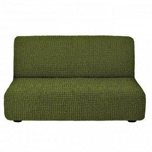 Чехол на 3-х местный диван без подлокотников зеленый