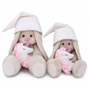 Зайка Ми с розовой подушкой - единорогом (большой)