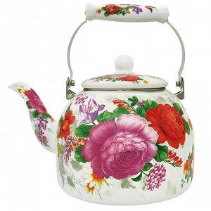 """Чайник  5,0 л с керамической ручкой EM-501X1/48 """"Цветочный букет"""""""