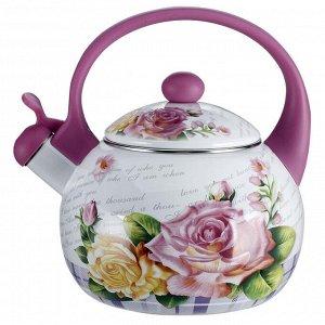 """Чайник  2,5 л со свистком EM-25101/35 """"Чайная роза"""""""