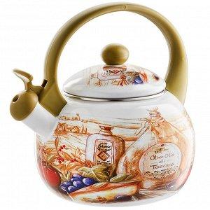 "Чайник  2,5 л со свистком ЕМ-25101/41 ""Сицилия"""