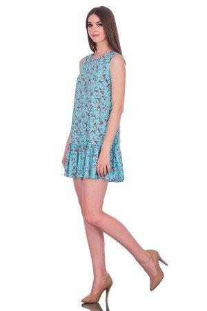 Платье Цвет голубой. Комплектация платье. Состав полиэстер - 62%, вискоза - 34%, эластан - 4%. Бренд