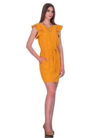 Платье Цвет оранжевый. Комплектация платье. Состав полиэстер - 70%, вискоза - 30%. Бренд