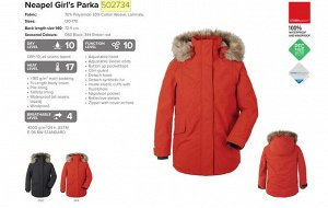 Куртка для девушки NEAPEL GS PARKA, р. 150