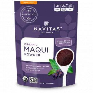 Navitas Organics, Органический порошок маки, тарт, 85 г (3 унции)