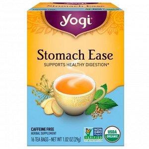 Yogi Tea, Stomach Ease, без кофеина, 16 пакетиков, 29 г