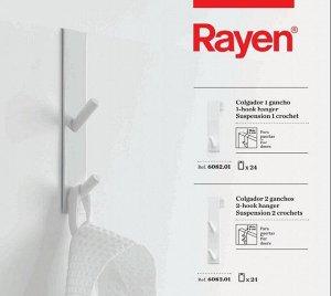 """""""RAYEN"""" Крючок на дверь, двойной 3х18х4см 6083.01 ВЭД"""
