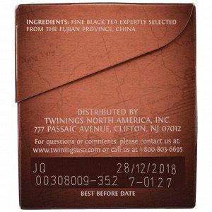 """Twinings, """"Лапсанг Сушонг"""", 100% чистый черный чай, 20 чайных пакетиков по 1,41 унции (40 г)"""