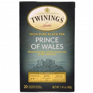 "Twinings, Чай ""Принц Уэльский"", 20 пакетиков, 1.41 унций (40 г)"