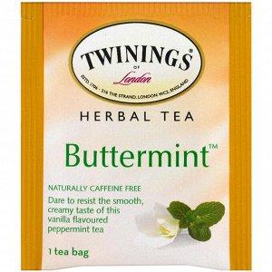 Twinings, Травяной чай, мятный леденец, не содержит кофеин, 20 чайных пакетиков, 1.41 унции (40 г)