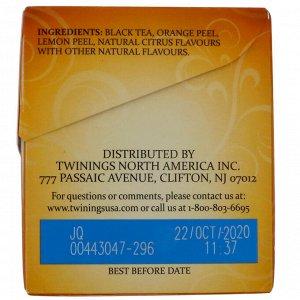 Twinings, Lady Grey Black Tea, 20 чайных пакетиков, 40 г (1,41 унц.)