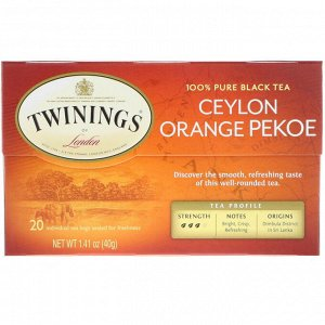 Twinings, Ceylon Orange Pekoe Tea, 20 Tea Bags, 1.41 oz (40 g)