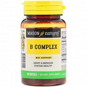 Mason Natural, B Complex, 100 Softgels