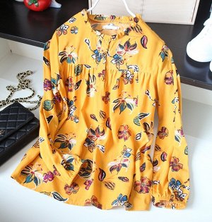 Рубашка с принтом,жёлтый