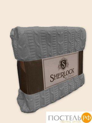 """507885 Плед вязаный """"Sherlock"""" 150х200 серый"""