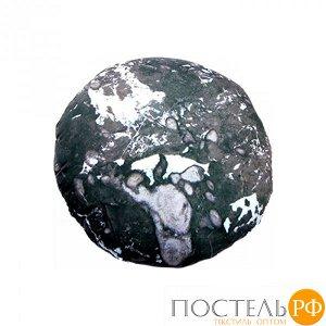 Подушка игрушка «Камень» (Ап03кам08, 23х23, Черный, Кристалл, Микрогранулы полистирола)