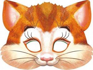 """Картонная маска на резинке """"Котик"""""""