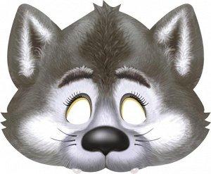 """Картонная маска на резинке """"Волчок"""""""