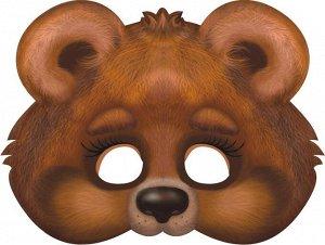 """Картонная маска на резинке """"Медвежонок"""""""