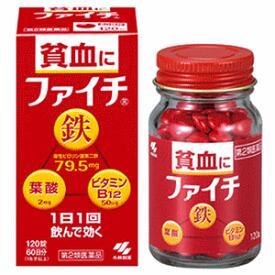 Kobayashi Pharmaceutical Faichi. Профелактика анемии. 120шт
