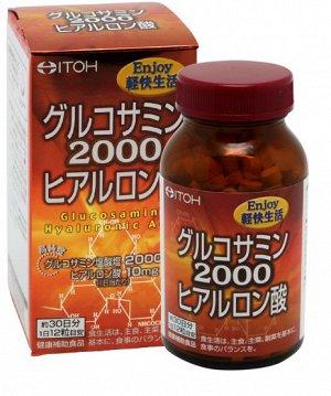 Itoh супер глюкозамин 2000 с гиалуроновой кислотой, курс 30 дней
