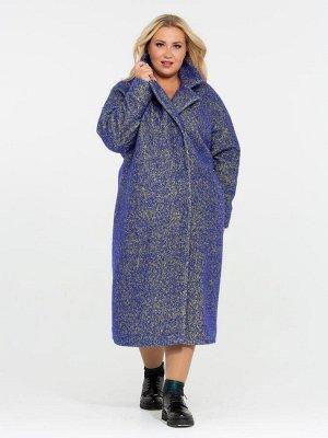 Пальто синий
