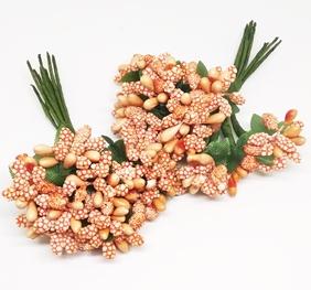 Букетик декоративный в обсыпке, Оранж