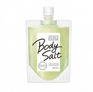 """Солевой скраб """"JUICY CLEANSE""""  для тела с аргановым маслом, экстрактами дыни, лайма, огурца и петрушки 300 г / 24"""