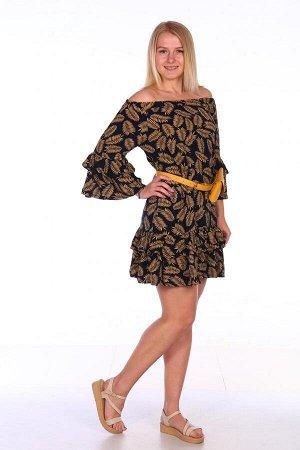 Платье Характеристики: Состав-вискоза Легкое платье на лето. Это платье можно носить как со спущенными плечиками, так и с поднятыми. Можно носить с ремешком, которое подчеркнет талию, так и без него.
