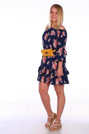 Платье Характеристики: Состав- вискоза Яркое и легкое платье на лето. Это платье можно носить как со спущенными плечиками, так и с поднятыми. Можно ность с ремешком, которое подчеркнет талию, так и бе