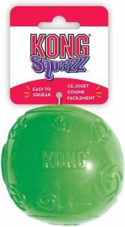 KONG игрушка для собак Сквиз Мячик очень большой резиновый с пищалкой 9 см, цвета в ассортименте