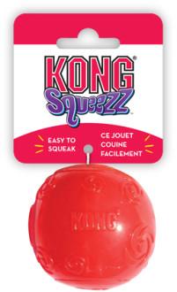 KONG игрушка для собак Сквиз Мячик средний резиновый с пищалкой 6 см, цвета в ассортименте