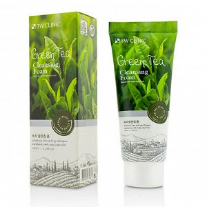 3 W CLINIC Пенка очищающая  Foam Cleansing [Green Tea] 100 мл