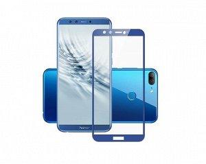 Защитное стекло Honor 9 Lite Full синее