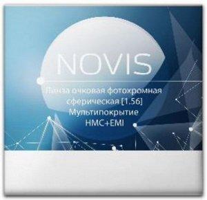 """Очковые линзы """"NOVIS"""" 1.56 Photo HMC [Серые/Коричневые]"""