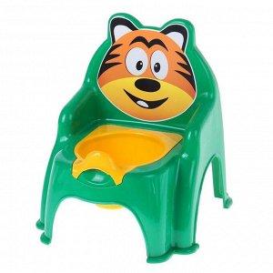 Горшок-стульчик «Тигра», цвет зелёный
