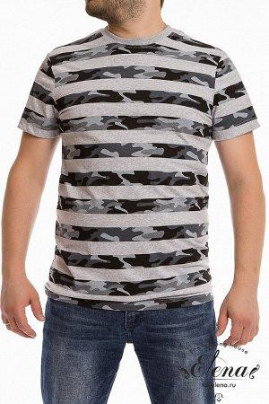 Футболка Мужская футболка выполнена из хлопкового полотна с набивным рисунком. Покрой свободный, горловина имеет круглый вырез. Размерный ряд: 44-62. Состав Хлопок 100% Артикул 11922 Базовая единица ш