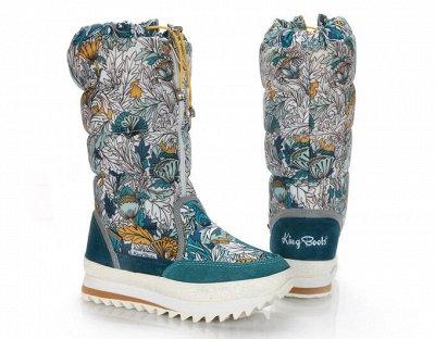 Дутики King Boots. Тепло и практично для Детей. Кеды+Сандали — Девочки Зима — Для девочек