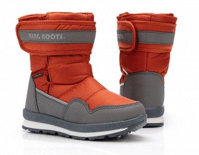 Дутики King Boots. Тепло и практично для Детей. Кеды+Сандали — Мальчики зима — Для мальчиков