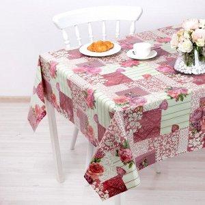 Клеенка столовая на нетканой основе, ширина 137 см, толщина 0,08 мм, рулон 20 метров