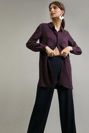 Рубашка удлиненная фиолетовая EMKA