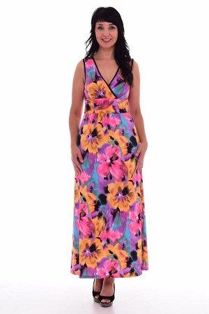 Сарафан женский 4-62в (цветы)