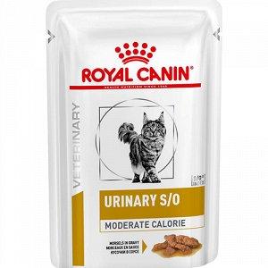 Royal Canin пауч 85гр д/кош Vet Urinary S/O Mod.Calorie урология/мкб (1/12)