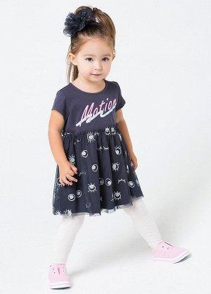 Платье для девочки Crockid КР 5501 темно-серый3 к201