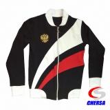 Куртка (толстовка) спортивная из футера с гербом